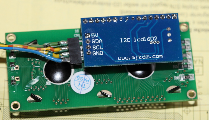 Update I2C LCD-Library for Arduino
