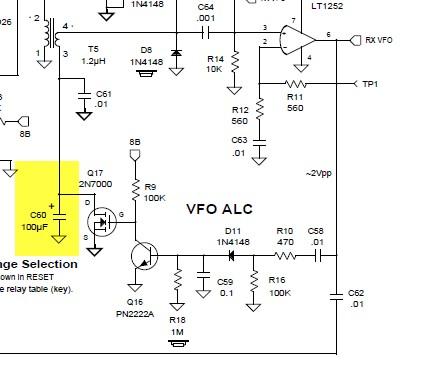 ELECRAFT K2 - Fixing VFO ALC issue
