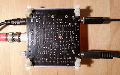 Bottom view of Frog Sounds QRP PCB